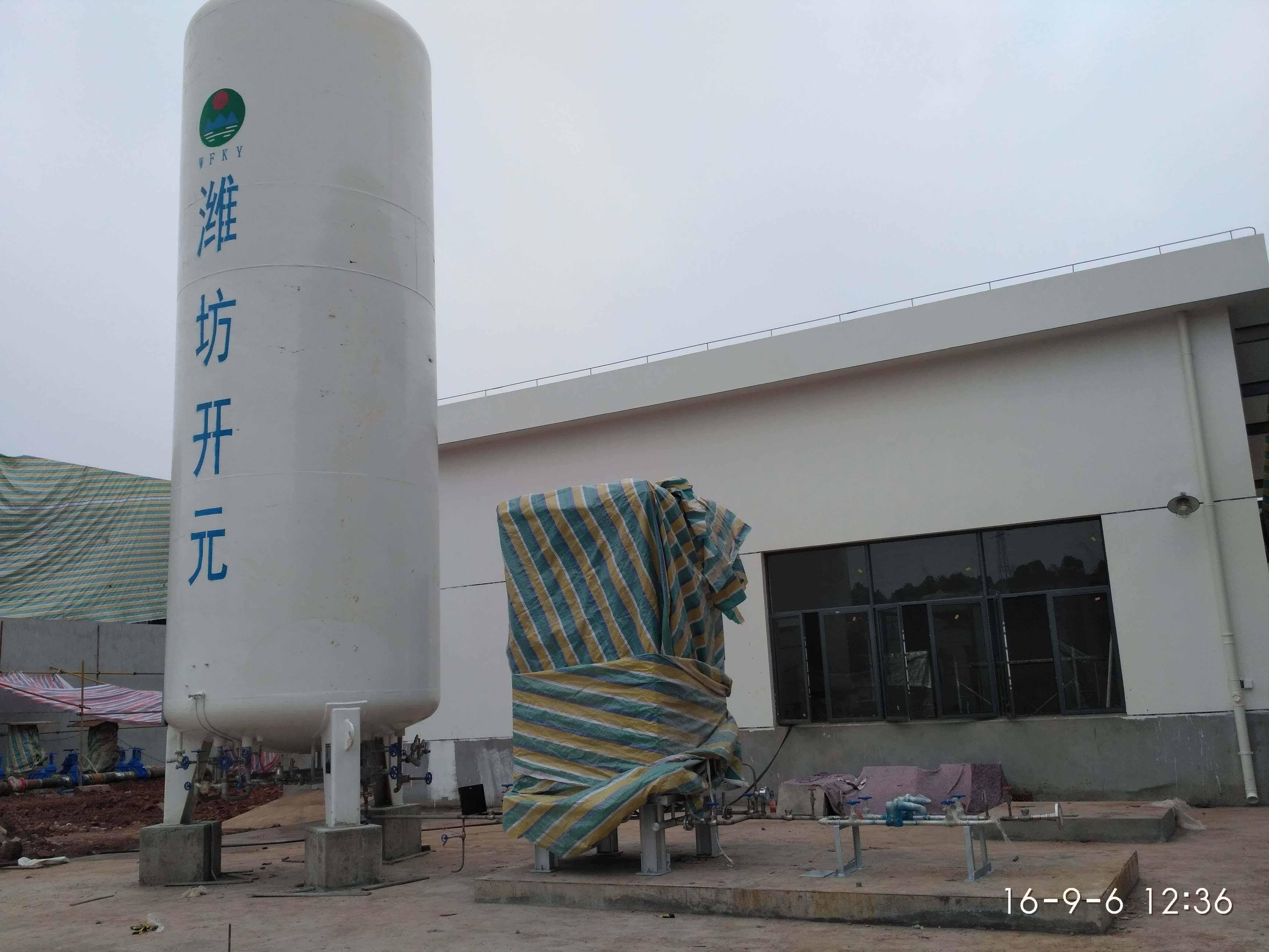 株洲時代二期液氮氣化站安裝完成